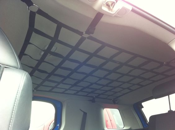 Interior Roof Cargo Net.  Cleaver way to store stuff for road trips & shopping trips!