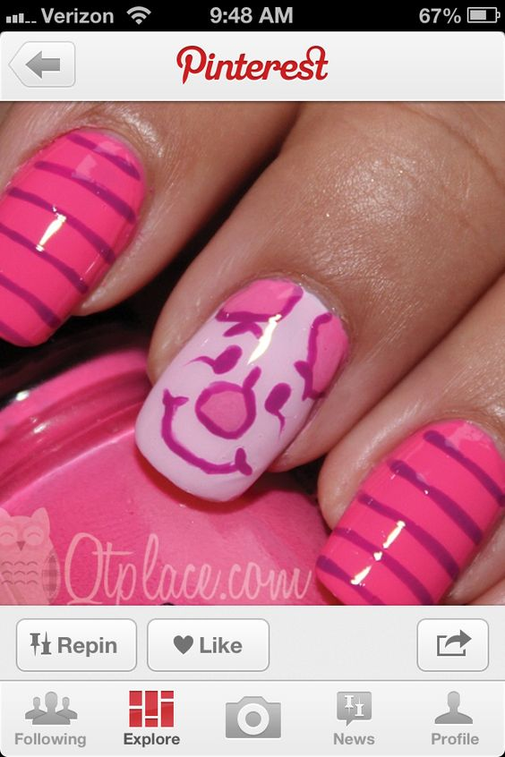Piglet nail design