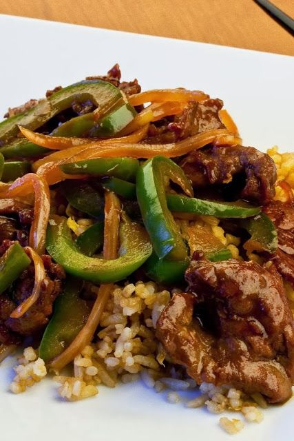 Pepper Steak ~ Comfort Food. Serve with brown rice and a salad. - made this tonight. Absolutely delicious! New favorite.
