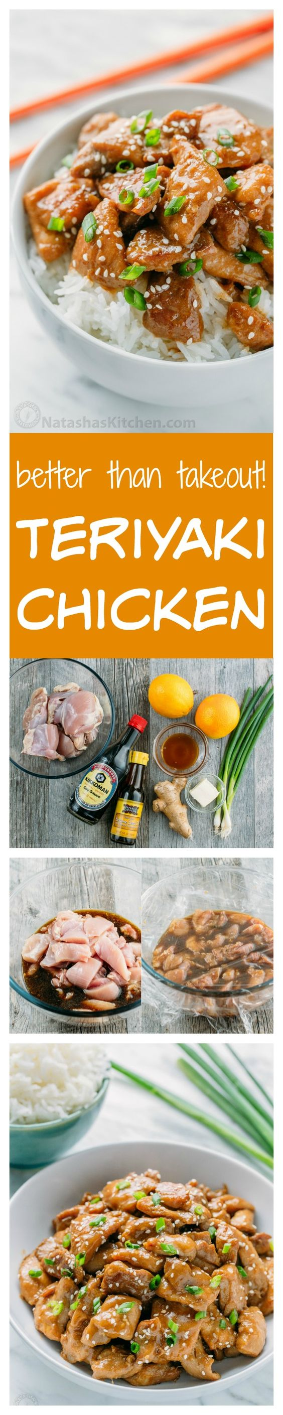 Easy Teriyaki Chicken Recipe that tastes better than takeout. This chicken teriyaki is a family favorite! Simple easy dinner idea. We served it over buttery white rice with broccoli. Yum!