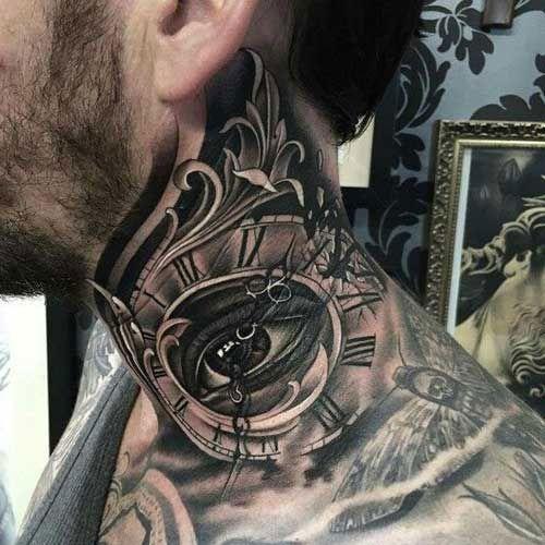 125 Best Neck Tattoos For Men Cool Ideas Designs 2020 Guide Awesome Neck Tattoo Designs For Men In 2020 Side Neck Tattoo Best Neck Tattoos Neck Tattoo For Guys