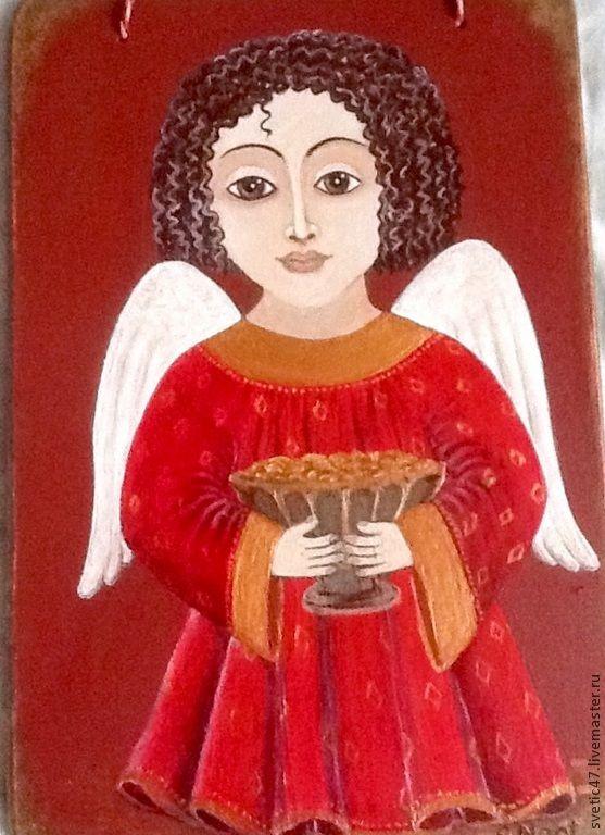 """Купить Авторская работа,, Ангел благосостояния"""""""" - ярко-красный, ангел, ангел-хранитель, денежный талисман:"""