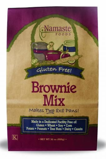 Amazing brownie mix, no gluten, wheat, soy, corn, potato, peanuts, tree nuts dairy or casein- incredible flavor! $6.29 for enough mix to make two 8x8 pans