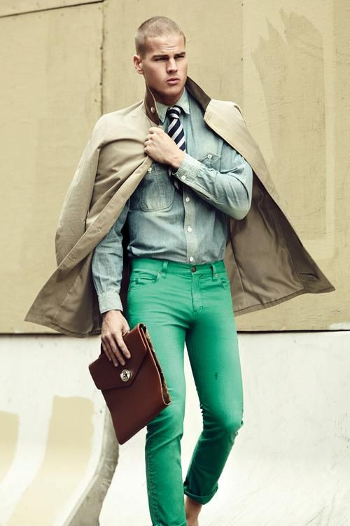Green jeans for men   My Style :)   Pinterest   Green Green jeans