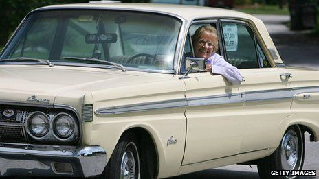 Rachel Veitch bought her Mercury Comet Caliente for $3,289 in February 1964. It has outlasted three marriages and 18 battery changes, she says. [source: BBC News, April 3, 2012]