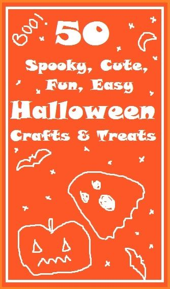 50 halloween crafts ideas.  One for every day of the month (and extras for those rainy days!)