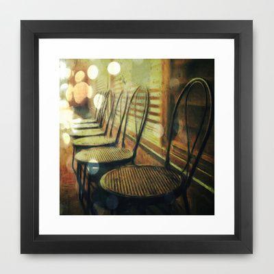 Chair Framed Art Print by Jean-François Dupuis - $40.00