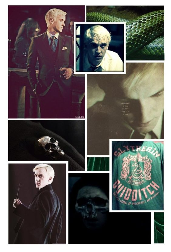 """""""Draco Malfoy: You Don't Know What You've Gotten Into Until You've Dug Too Deep"""" by thehelsinghatter ❤ liked on Polyvore featuring art, DracoMalfoy and PottermoreInPolyvoreMagicChallenge"""