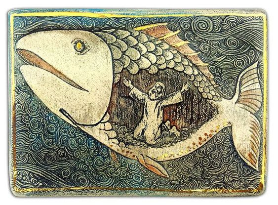 jonah and the whale painting - Google Search