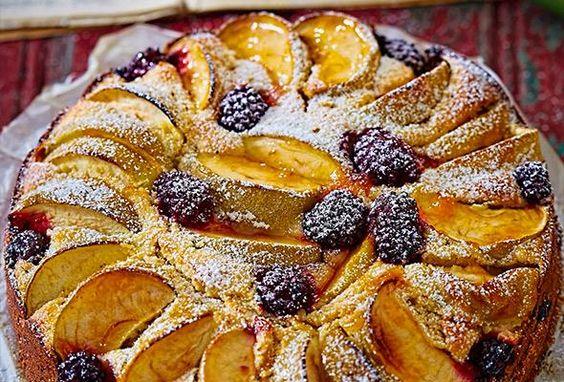 Rezept: Apfelkuchen mit Brombeeren bei for me