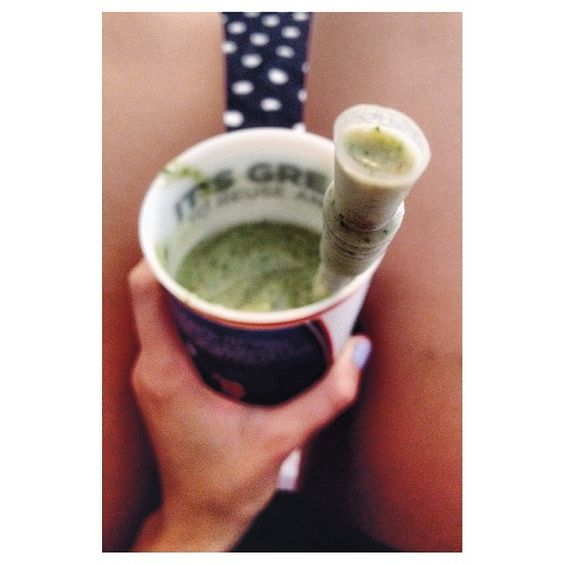 Yummy green(ish) smoothie after a good long workout on this beautiful Sunday. Save money and sugar by making your own smoothies. However, if you must get one from a smoothie joint, ask for no sugar/sweetener. It tastes just as good - the fruit already has enough sugar. #postworkout #smoothie #recipes #fitness #food #health #lifestyle #nutrition #Padgram