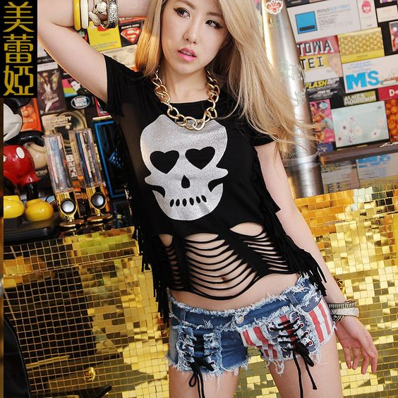 Now in our store skull clothing and accessories Fashion Sexy Goth... Check out new items http://rebelstreetclothing.com/products/fashion-sexy-gothic-skull-backless-tops-punk-rock-singlet-tassel-crop-tops-hip-hop-t-shirt-dance-costume