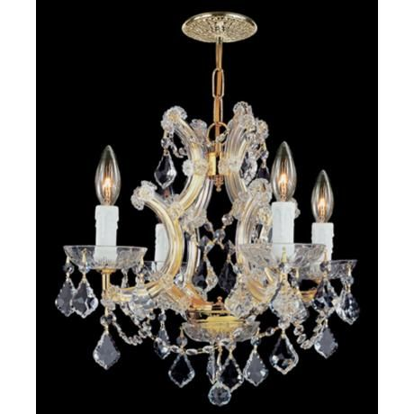 Maria Theresa Collection Gold 4-Light Chandelier -