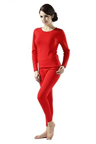New Step Women's Double Layer Thick Thermal Underwear Top & Bottom ...