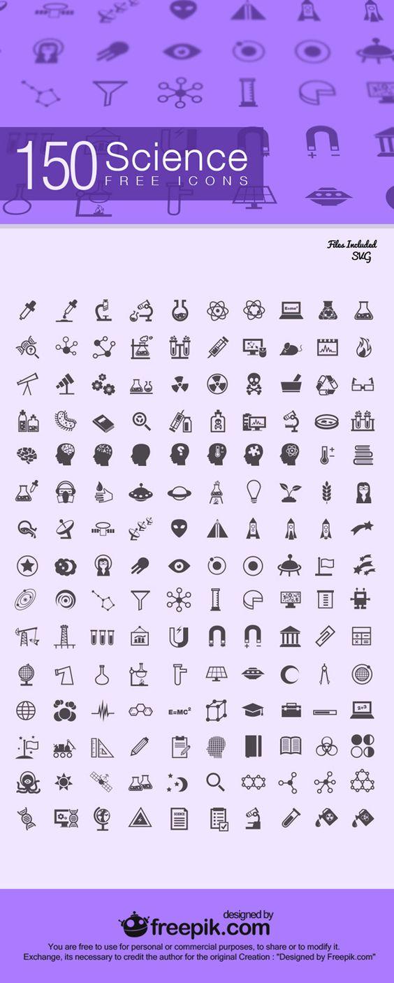 150 Iconos de ciencia gratis y exclusivos