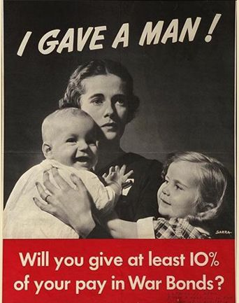I gave a man - War bond poster, 1941 #propaganda #worldwar2