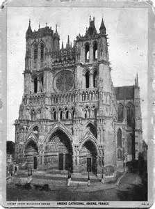 Old post card-Amiens Cathedral, Amiens, France - Front