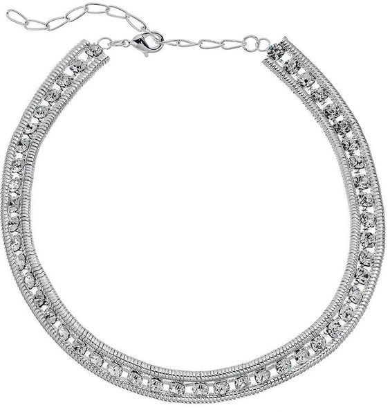 Simulated Crystal Snake Chain Choker Necklace | KOHL'S saved by #ShoppingIS