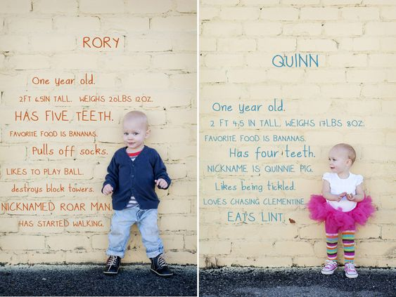 Fun picture to do every year on their birthday. This is just so adorable(: I will do this one day with my kids!