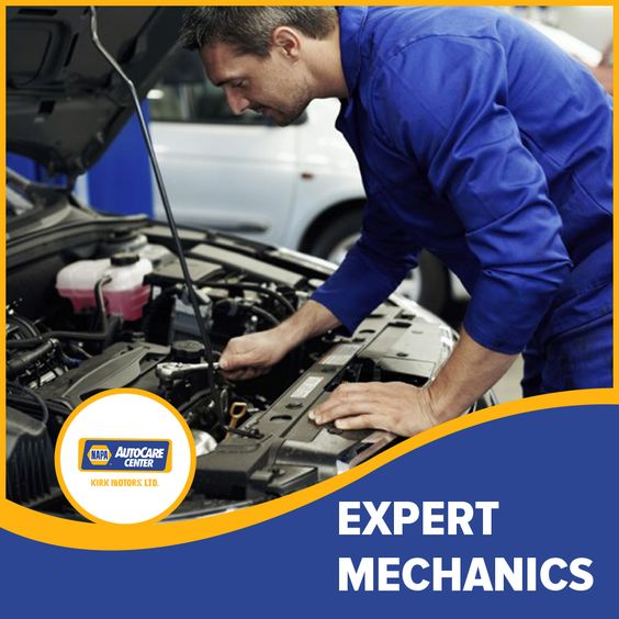 Expert mechanics dedicated to your road safety.  NAPA!   #Kirkmotors #servicedepartment #Diagnostic #Repair