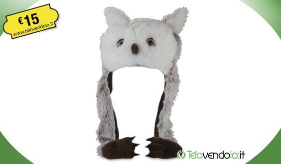 Finalmente un cappello che rivelerà la tua natura di predatore e ti accompagnerà a caccia ogni notte!  Sfodera il tuo look più rapace e stupisci tutti con i tuoi occhioni!