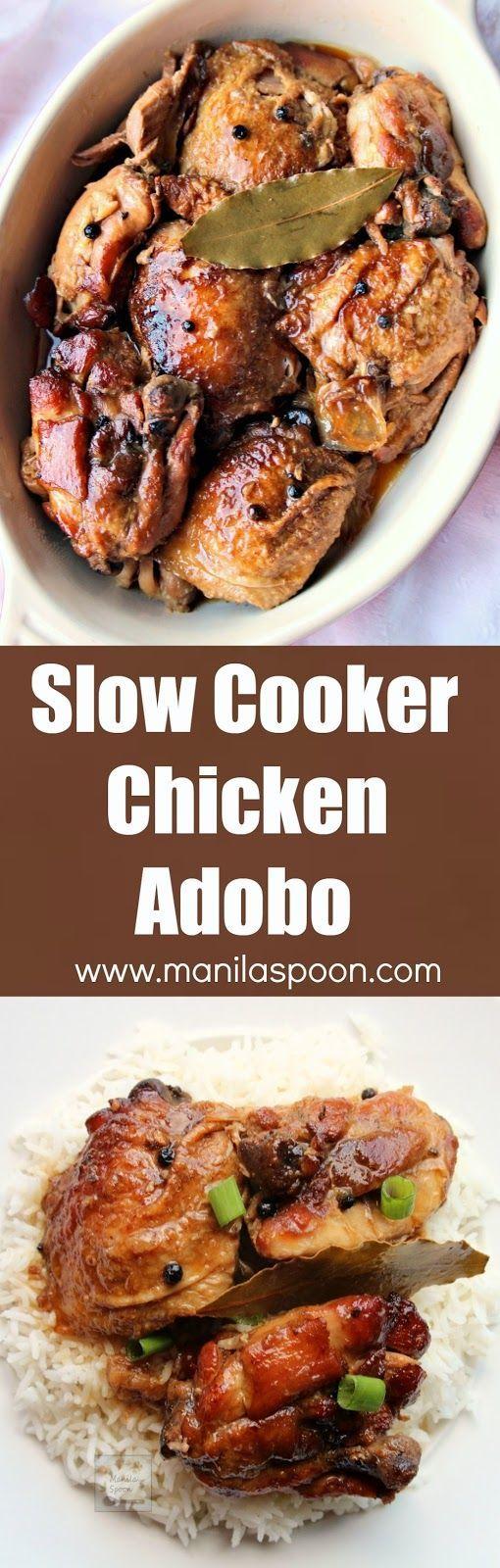 ... chicken adobo rice vinegar chicken leaves bays soy sauce garlic clove