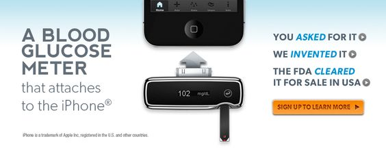 AgaMatrix  A blood glucose meter that attaches to the iPhone