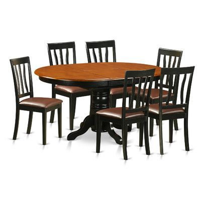 Wooden Importers Easton 7 Piece Dining Set Finish: