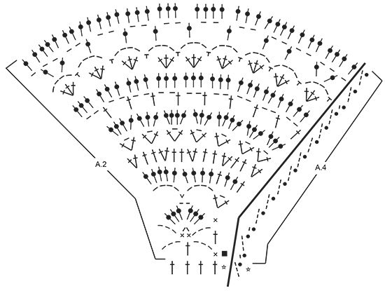 """Seashore Bliss / DROPS 169-15 - Pulôver rendado DROPS com encaixe arredondado, em """"Muskat"""". Crocheta-se de cima para baixo. Do S ao XXXL. - Free pattern by DROPS Design"""