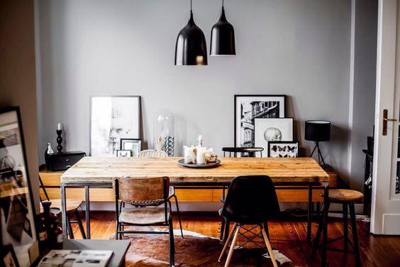 Tisch Alt Holz Esstisch Bohlen Industrie Design Eames Herman Miller Bauhaus in Möbel & Wohnen, Möbel, Tische | eBay