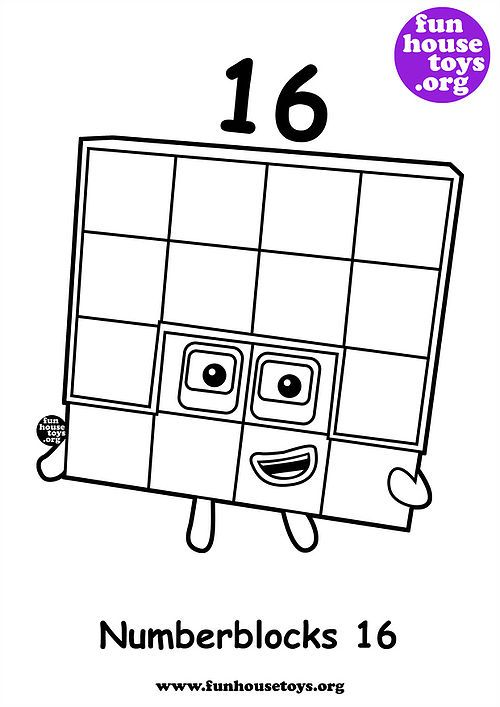 Fun House Toys Numberblocks Coloring Pages Coloring For Kids Christmas Candle Crafts