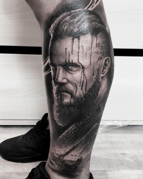 Travis Fimmel - Ragnar Lothbrok Character on Vikings tattoo