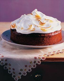 Buttermilchkuchen mit Baiserhaube