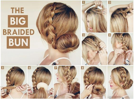 Remarkable Braided Buns Buns And Hair In A Bun On Pinterest Hairstyle Inspiration Daily Dogsangcom