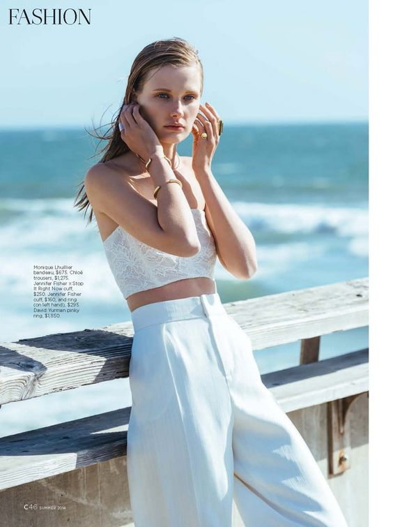 White Out | C Magazine Summer Issue 2014 | Olga Voronova photographed by Jessica Haye and Clark Hsiao