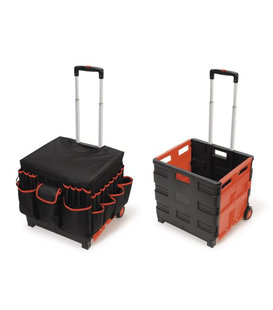 Busy Kids Learning Large Foldable Rolling Craft Cart