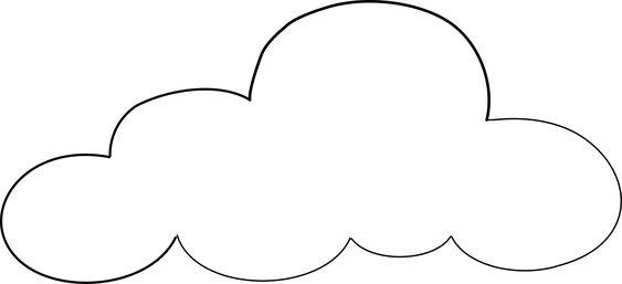 cloud template | Nuages | Pinterest | Stencils, Shape and ...