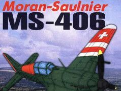 WWII Morane-Saulnier M.S.406 Fighter Free Aircraft Paper Model Download