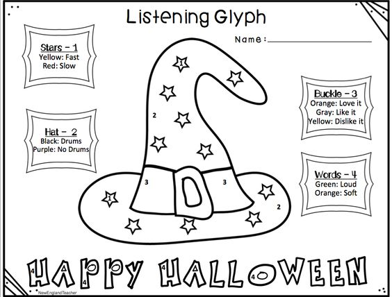 music listening glyph worksheets for halloween and fall this elementary music classroom lesson has students - Halloween Glyphs