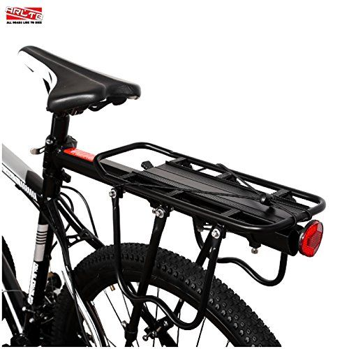 Arltb Aluminum Alloy Bike Carrier Rack Adjustable 110 Lbs Capacity Bicycle Accessories Cargo Rack For Mountain Bike Road Bike Ga Bike Carrier Rack Bike Bicycle