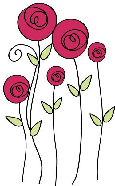 Vinilo decorativo dibujo rosas