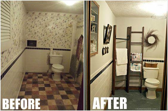 bathroom makeovers bathroom and do it yourself on pinterest. Black Bedroom Furniture Sets. Home Design Ideas