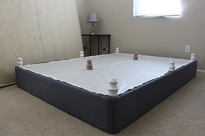 Momma Rake: DIY Upholstered Box Spring, for the big bed upgrade on the cheap.