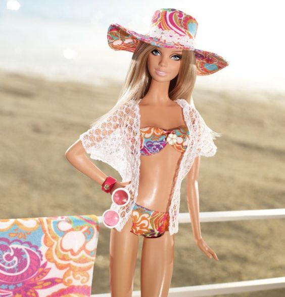 barbie style floral doll - Buscar con Google
