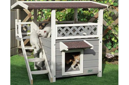 1 Petsfit Outdoor Pet House With Escape Door And Stairs Outdoor Cat House Dog House For Sale Wooden Dog House