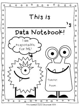 Data Notebook Cover Page Freebie The Common Core Classroom