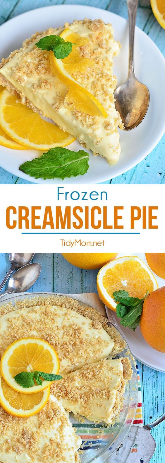 ... , you're going to love this Frozen Creamsicle Pie. It's the