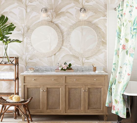 Lia Palm Shower Curtain Home Improvement Loans Bathroom Decor