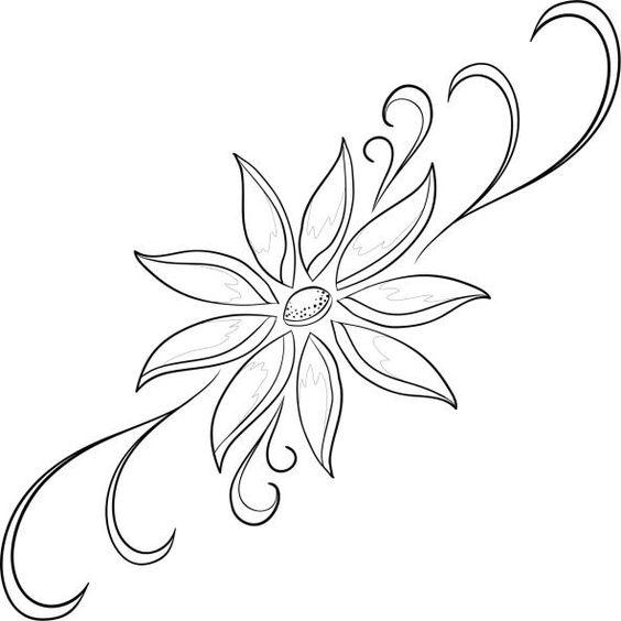 Dibujos de flores para imprimir y pintar for Dibujos de murales para pared