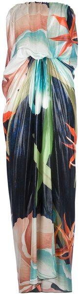 lanvin Hawaiian Print Maxi Dress - Lyst